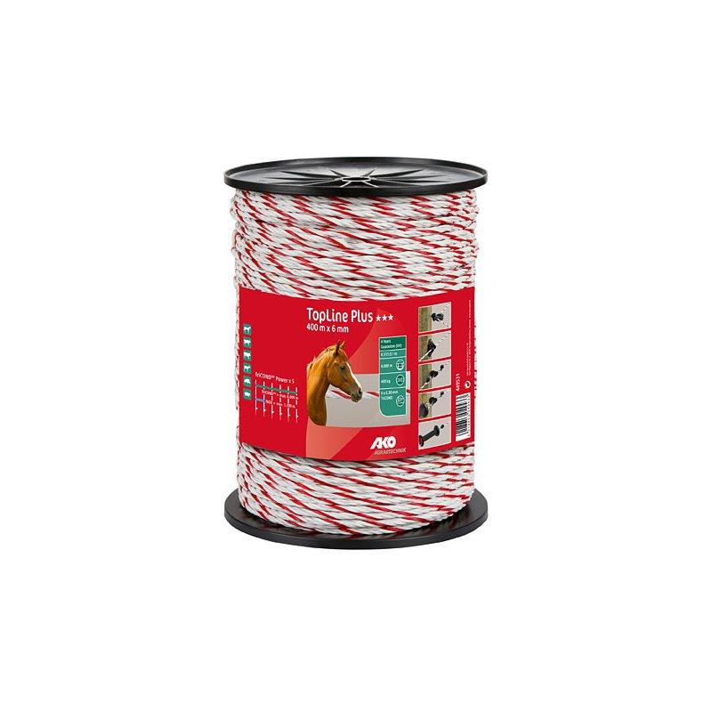 Elektroseil TopLine Plus weiß/rot 6 mm, 200 m, 37,50 €, Tierzuchtgeräte
